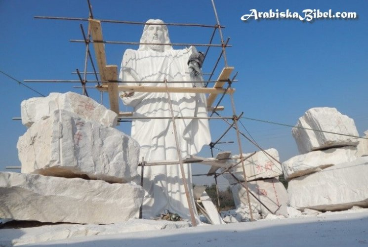 Statue of Jesus Christ in African