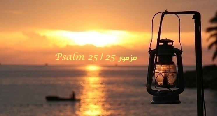 المزمور الخامس والعشرون - مزمور 25 - Psalm 25 - عربي إنجليزي مسموع ومقروء