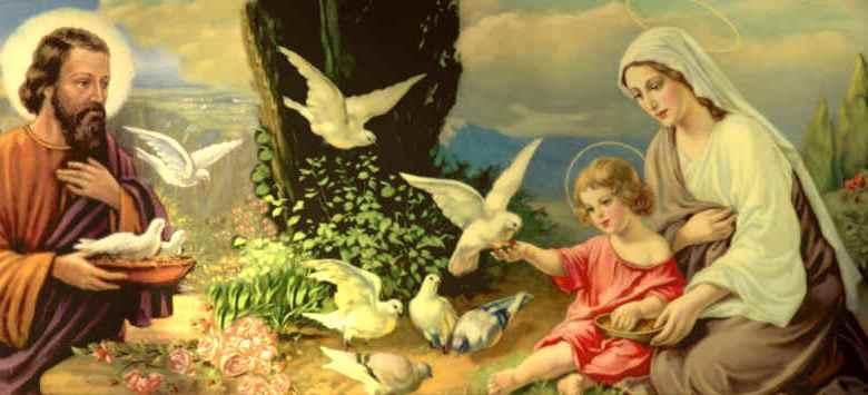 صلاة العائلة المقدسة العذراء مريم أم الكنيسة والقديس يوسف