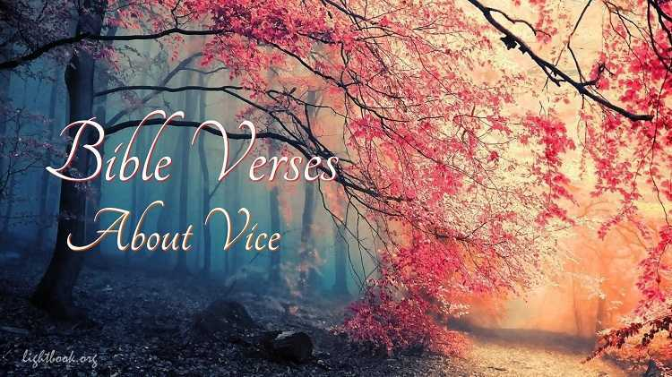 Bible Verses about Vice