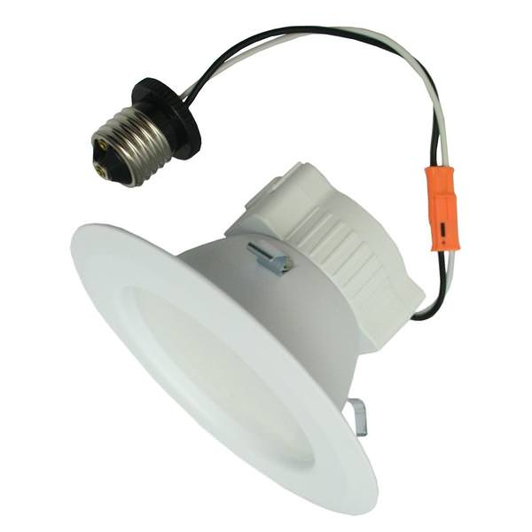 ge 95854 led10rs4 830e26p led recessed can retrofit kit with 4 inch recessed housing