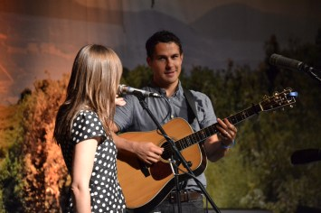"Jenny & Tyler play ""One Eyed Cat"" at the Downtown Church in Des Moines, Iowa."