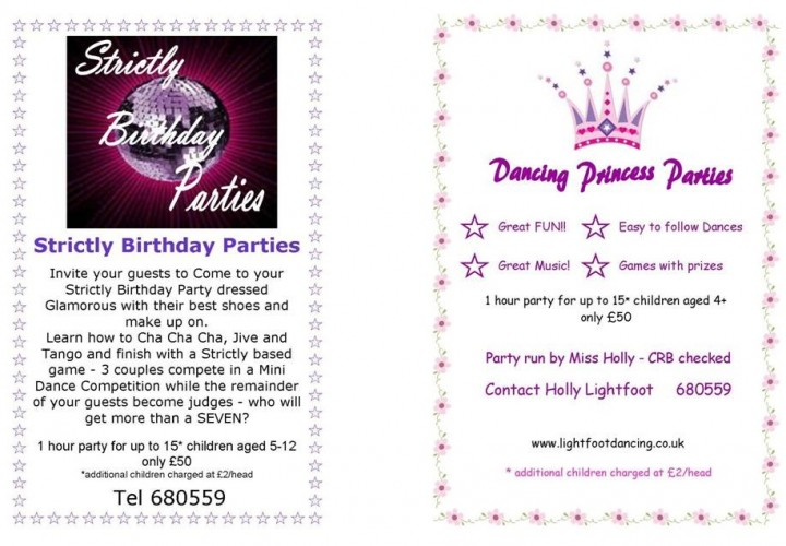 Strictly & Princess Parties