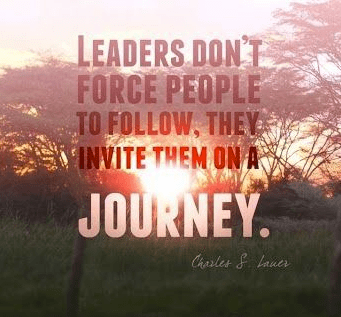 Leaders don't force people to follow.