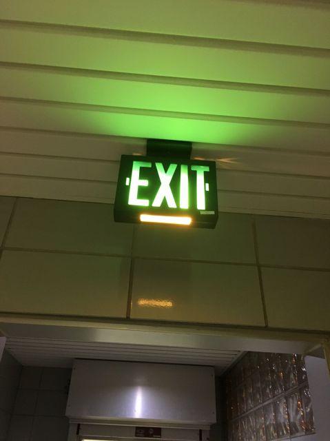 exit emergency lighting dual lite