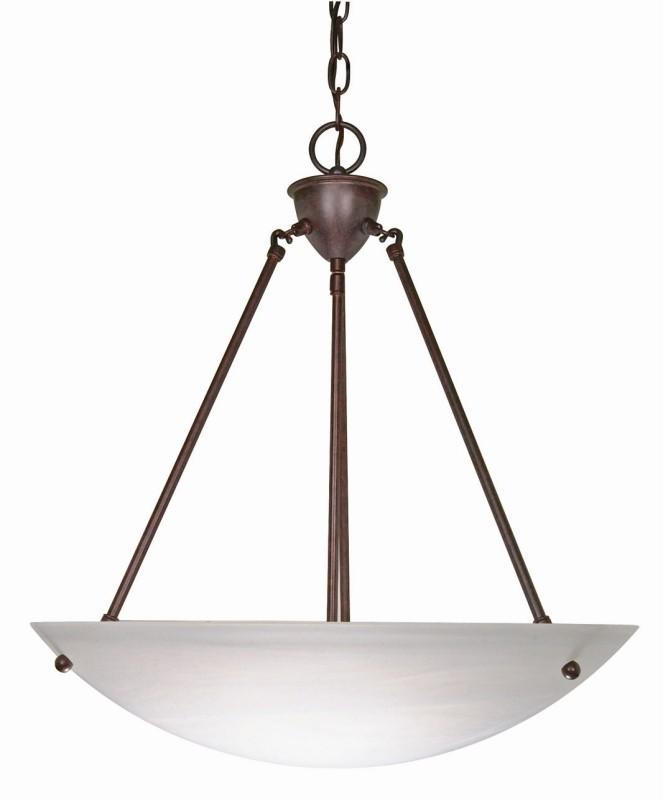 Nuvo Lighting 60 371 3 Light 23 Inch Pendant Alabaster Glass Bowl