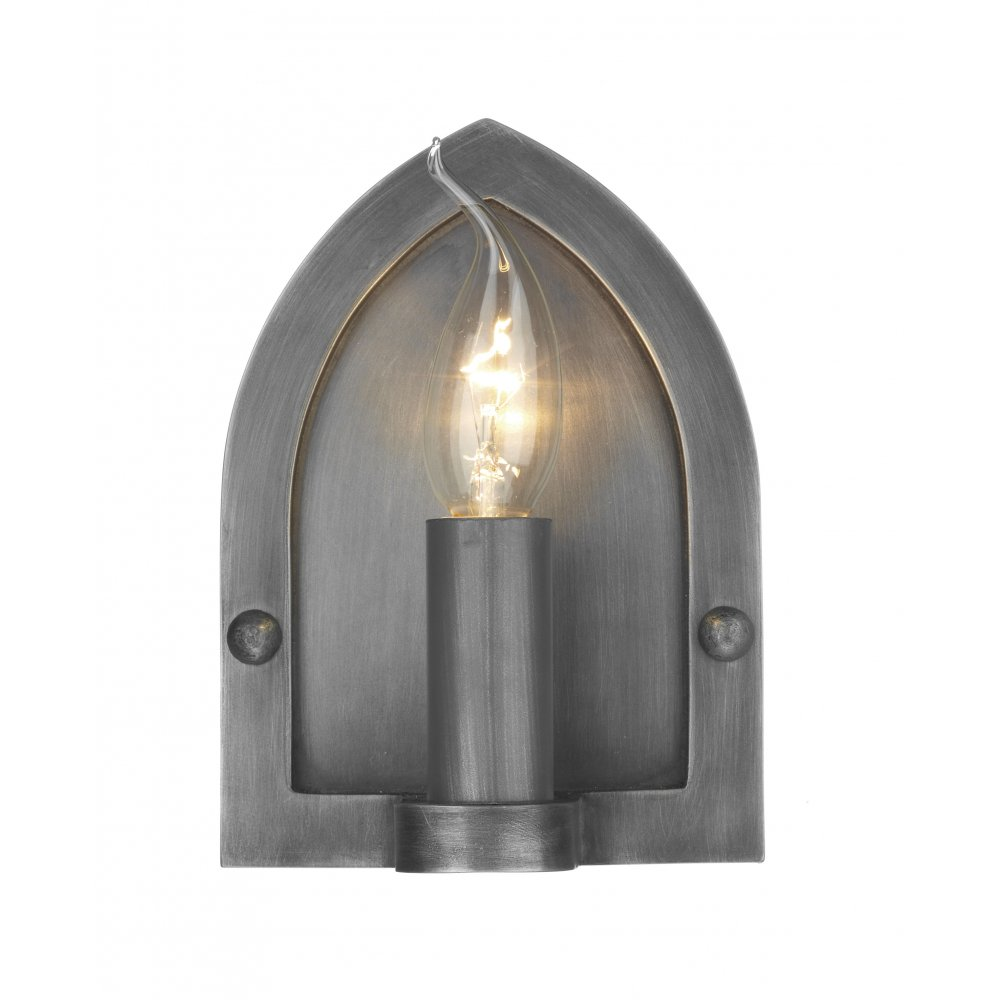 lindisfarne antique pewter wall light