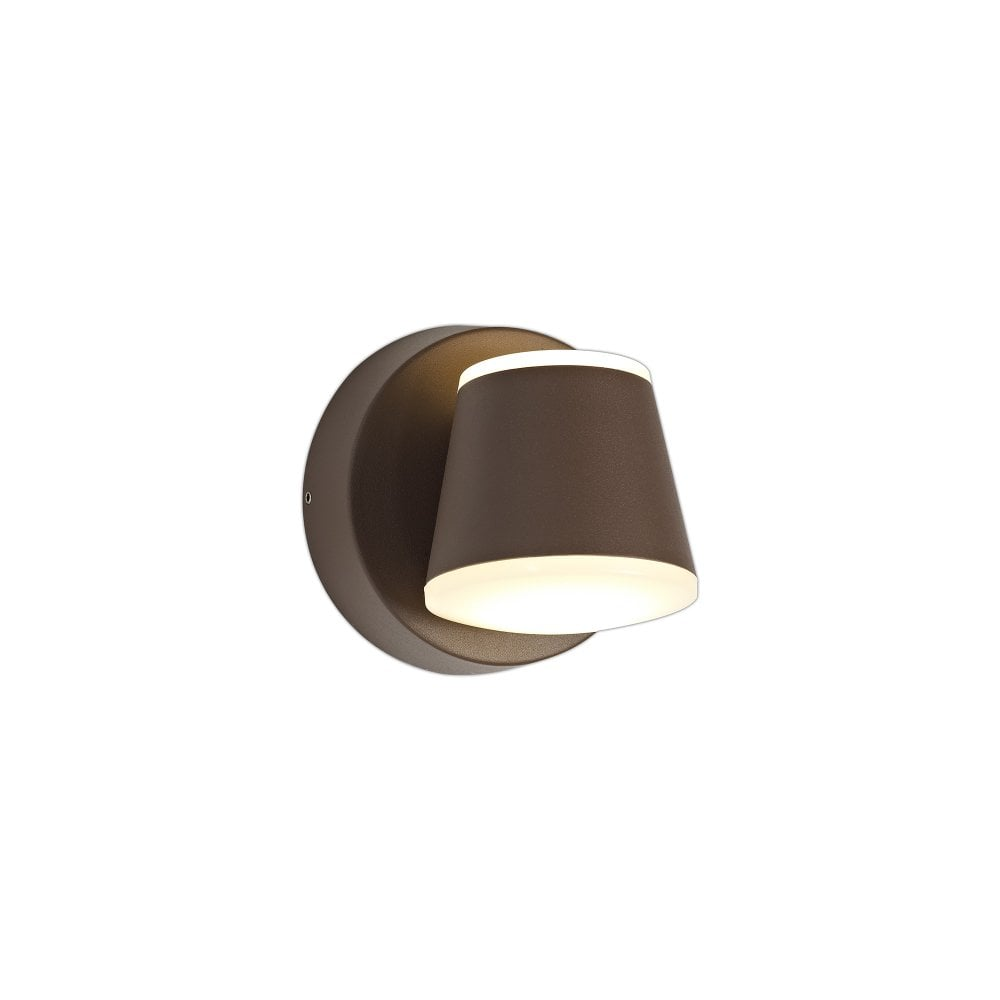paolo 2 light led outdoor wall light dark brown