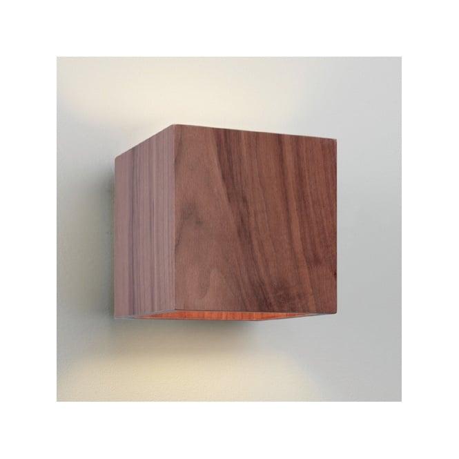 cremona rustic wooden walnut wall light