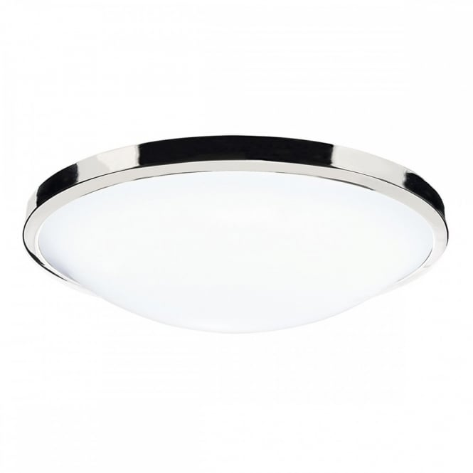 dover flush ip44 ceiling light polished chrome