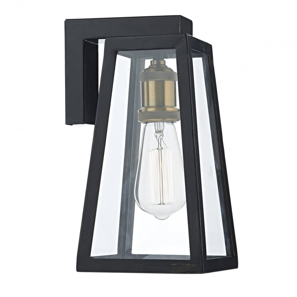 duval vintage tapered black outdoor wall light