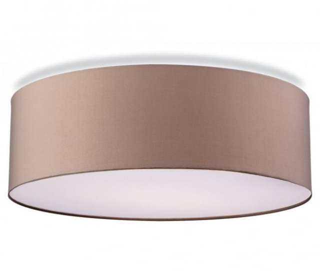 Phoenix Contemporary Flush Ceiling Light In Taupe