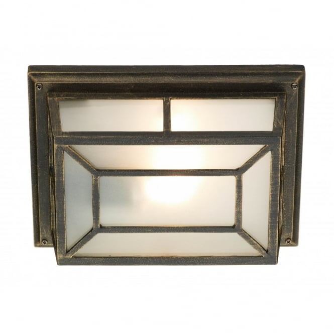 Trent Rustic Black Gold Garden Wall Or Porch Light