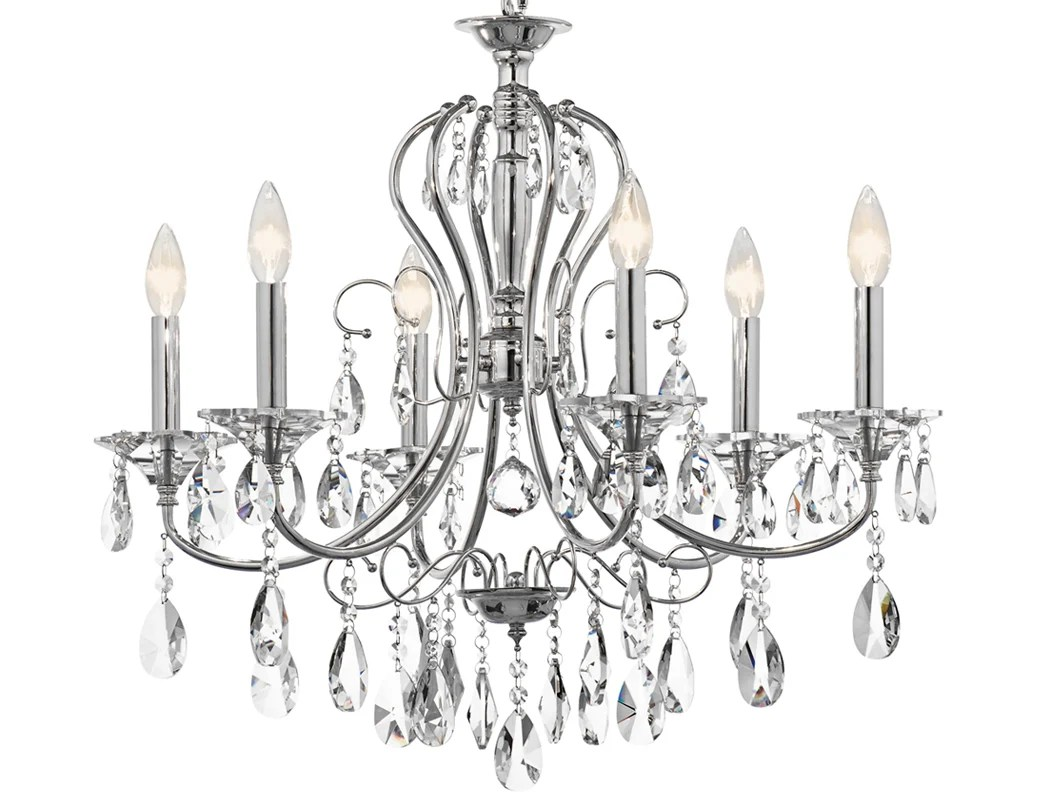 Kichler Ch Chrome Jules Single Tier Chandelier With 6