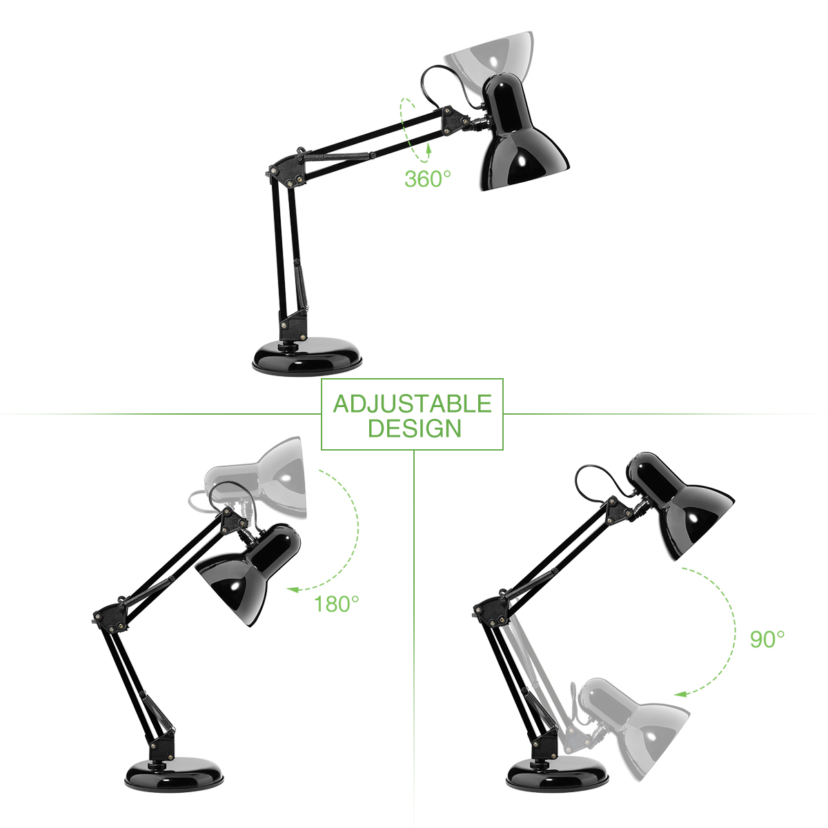Swing Arm Desk Lamp C Clamp Table Lamp Flexible Arm