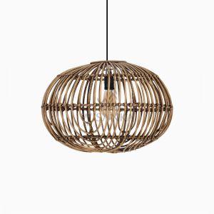 Somerset Rattan Decor Chandeliers Hanging Lamp Off Medium Brown Wash