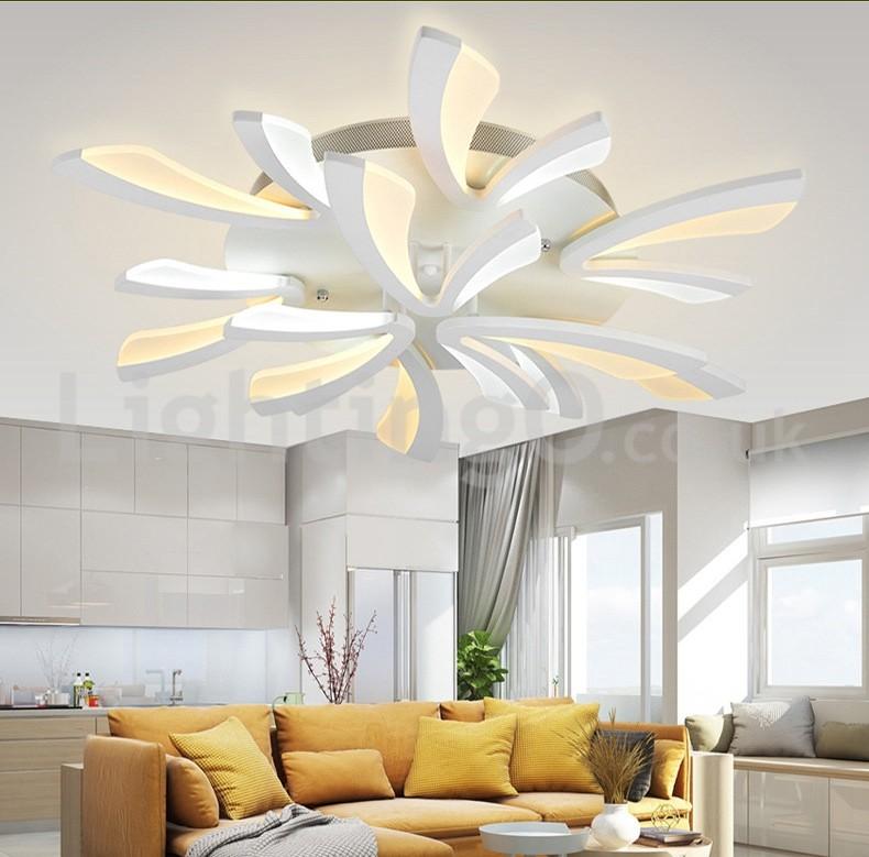 Newest 9 Lights Affordable Modern Flush Mount Ceiling