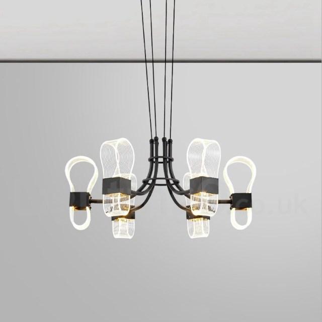 6 Light Nordic Post Modern LED 2021 New Design Chandelier ...