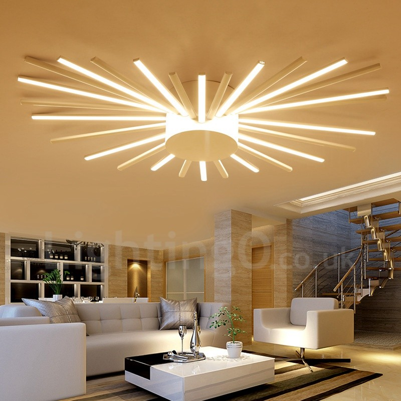 28 Light Modern Contemporary Led Integrated Living Room Dining Room Bed Room Metal Chandeliers Lightingo