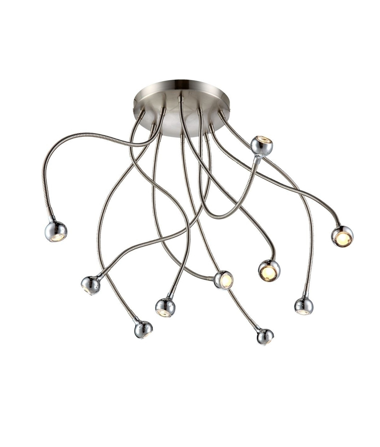 Ceiling Light With Flexible Alien Like Arms With 5 Or 10