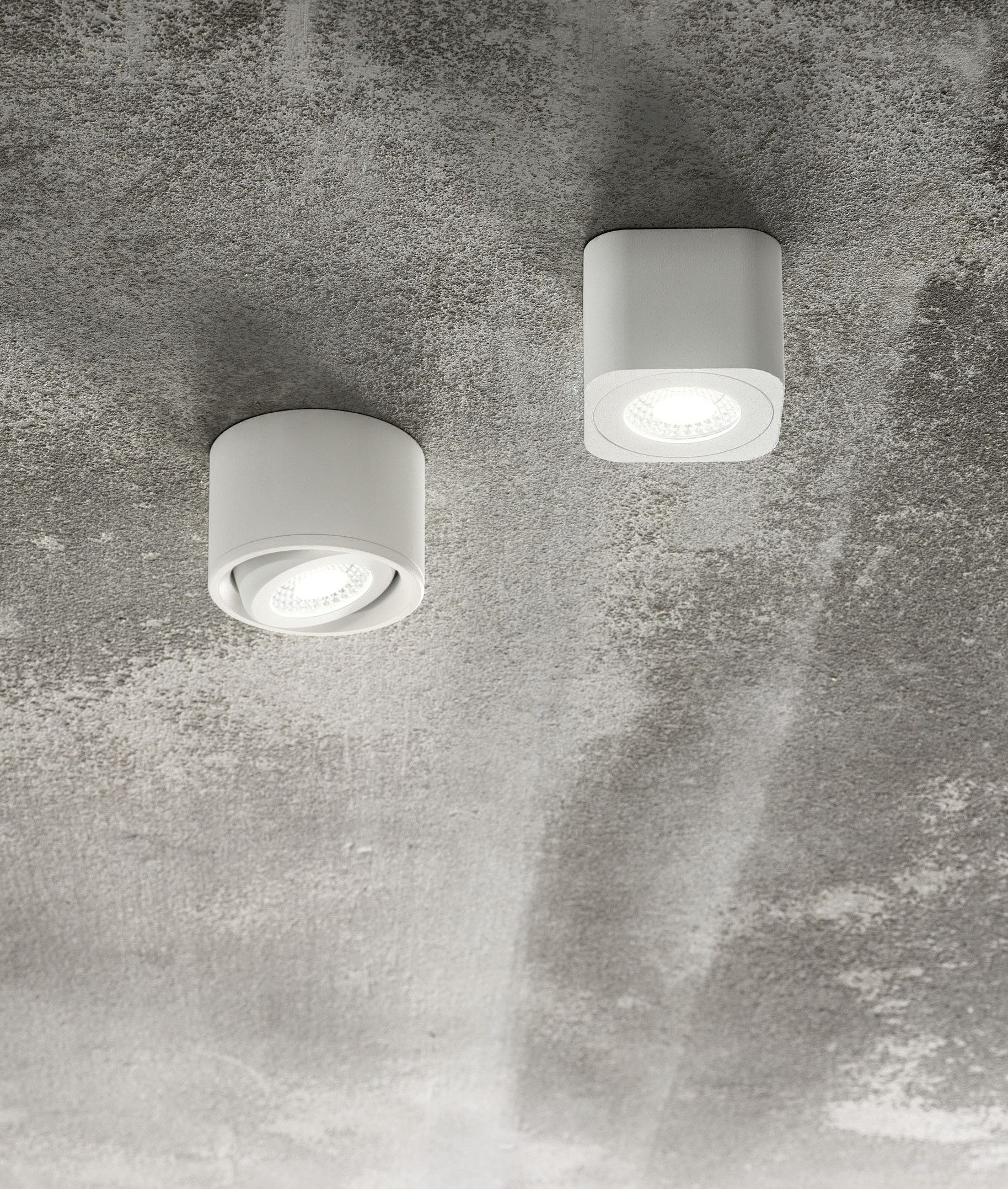 White Surface Mounted Downlights Fixed Or Adjustable
