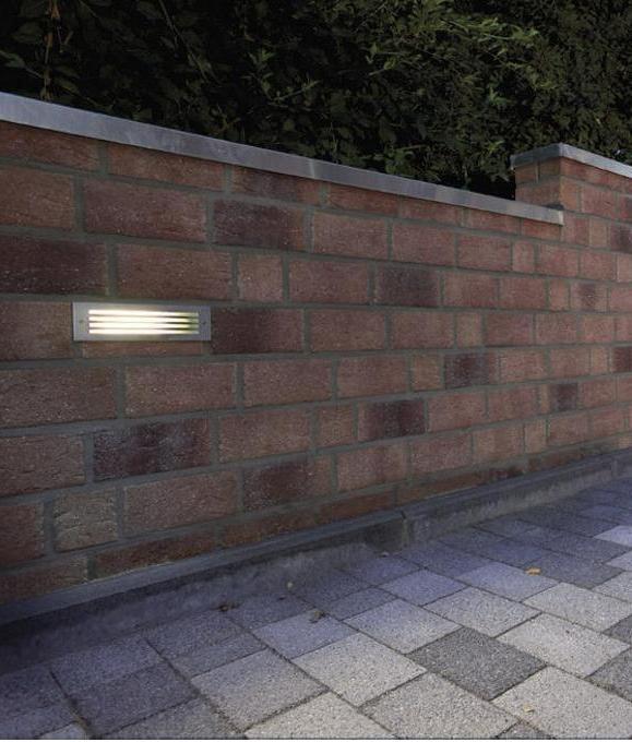 smart steel brick light with grill fascia