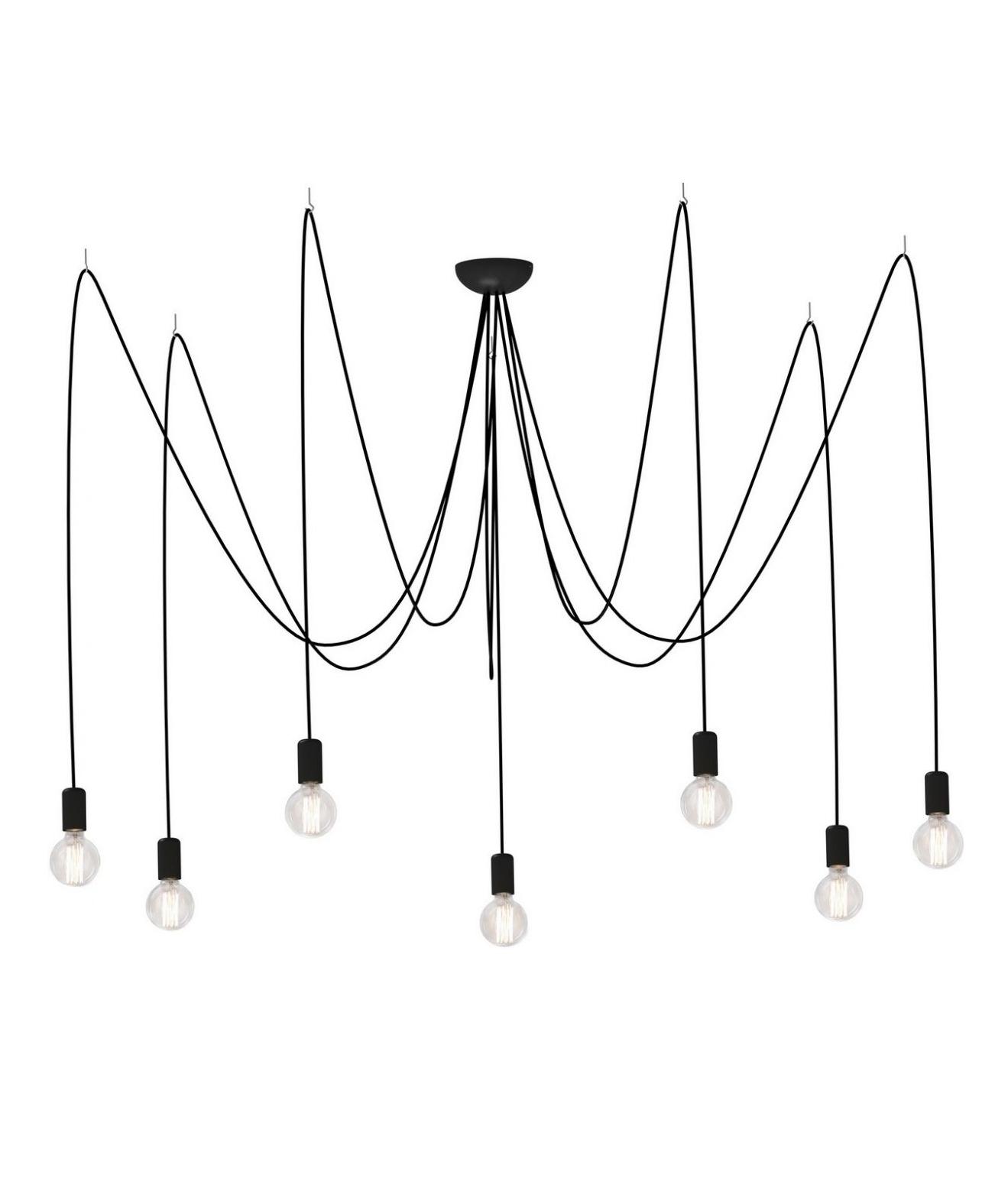 7 Flex Modern Bare Bulb Multi Light Chandelier
