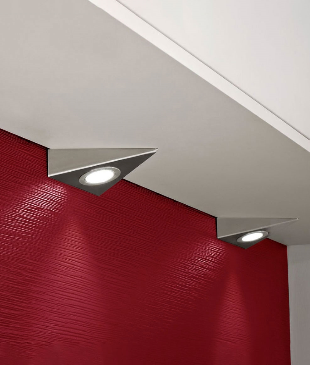 mains under cabinet led wedge light warm or neutral white