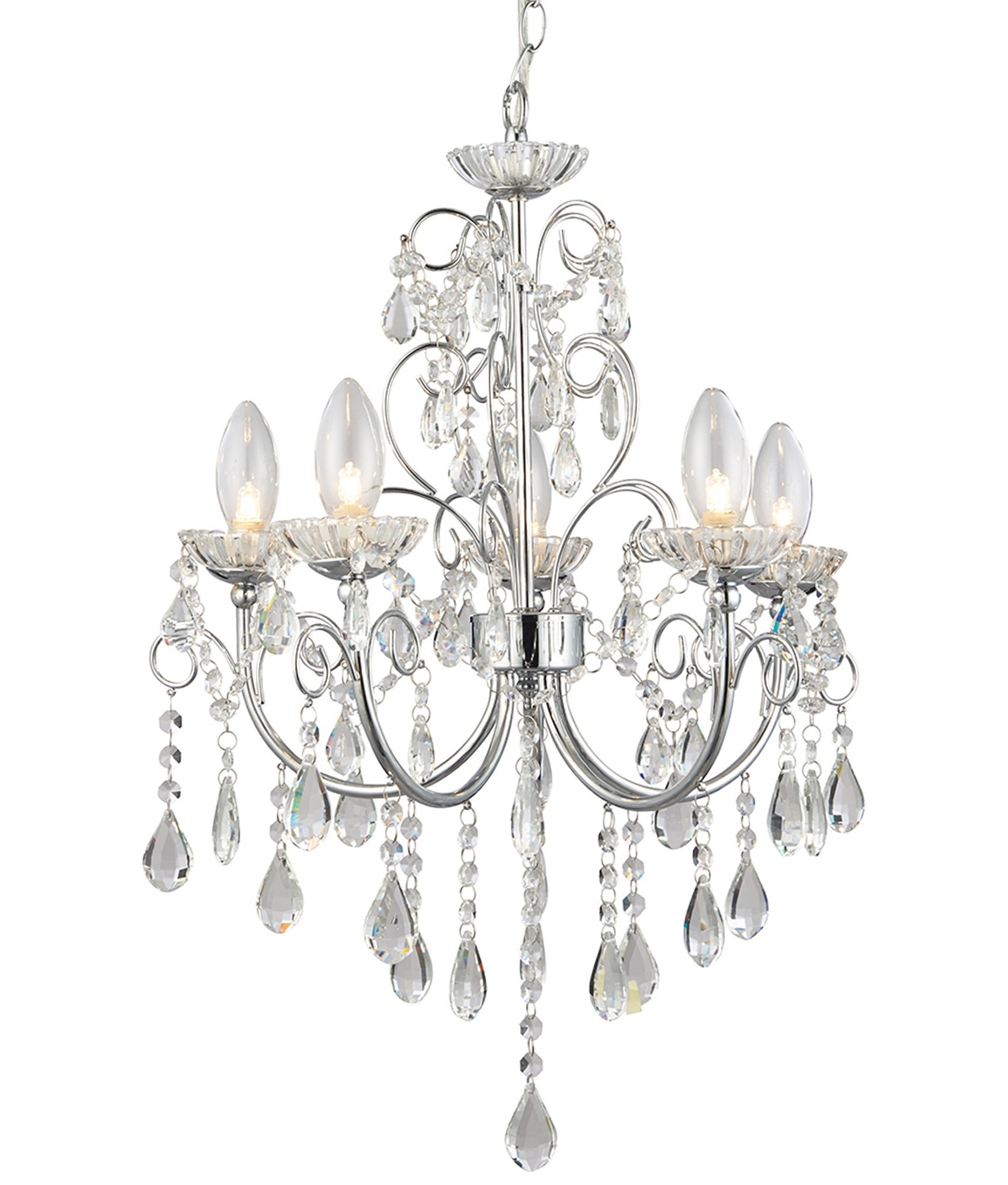 Bathroom Chandelier With Crystals Ip44