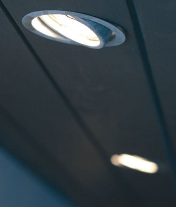 galvanised soffit downlight for led lamps adjustable wallwashing