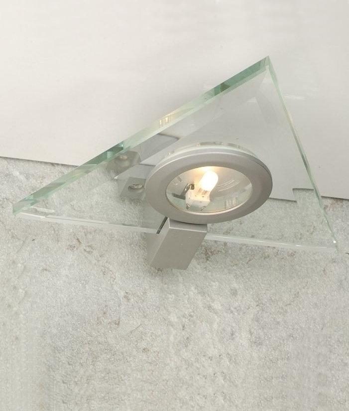 triangular design cabinet light glass triangle