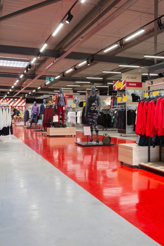 magasin de sport-eclairage generale