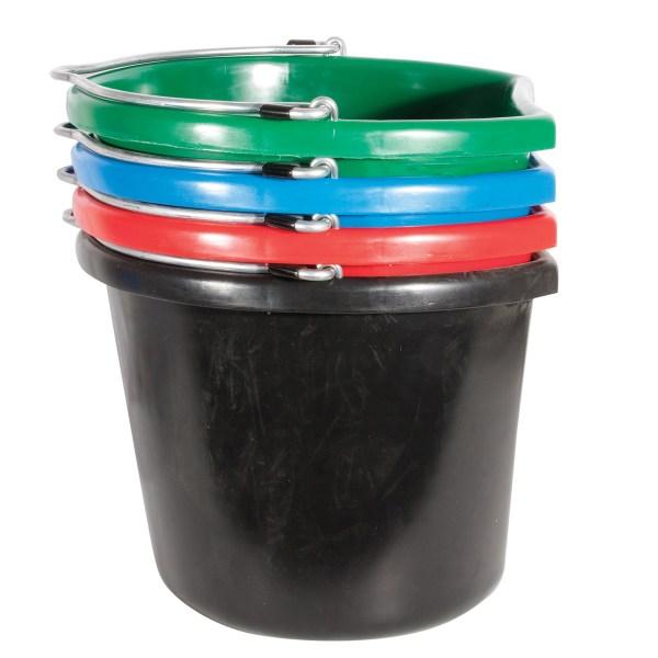 flatback bucket 20qt various colors