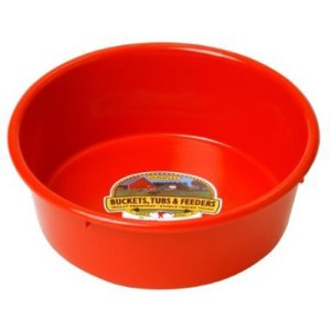 5 Qt Poly Feed Pan Assorted Colors