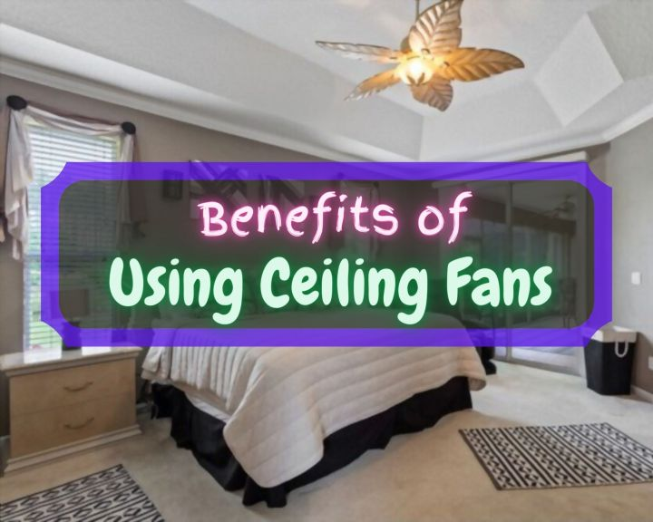 benefits of using ceiling fans