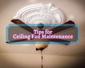 tips for ceiling fan maintenance