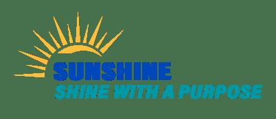 Sunshine Shine With A Purpose Logo