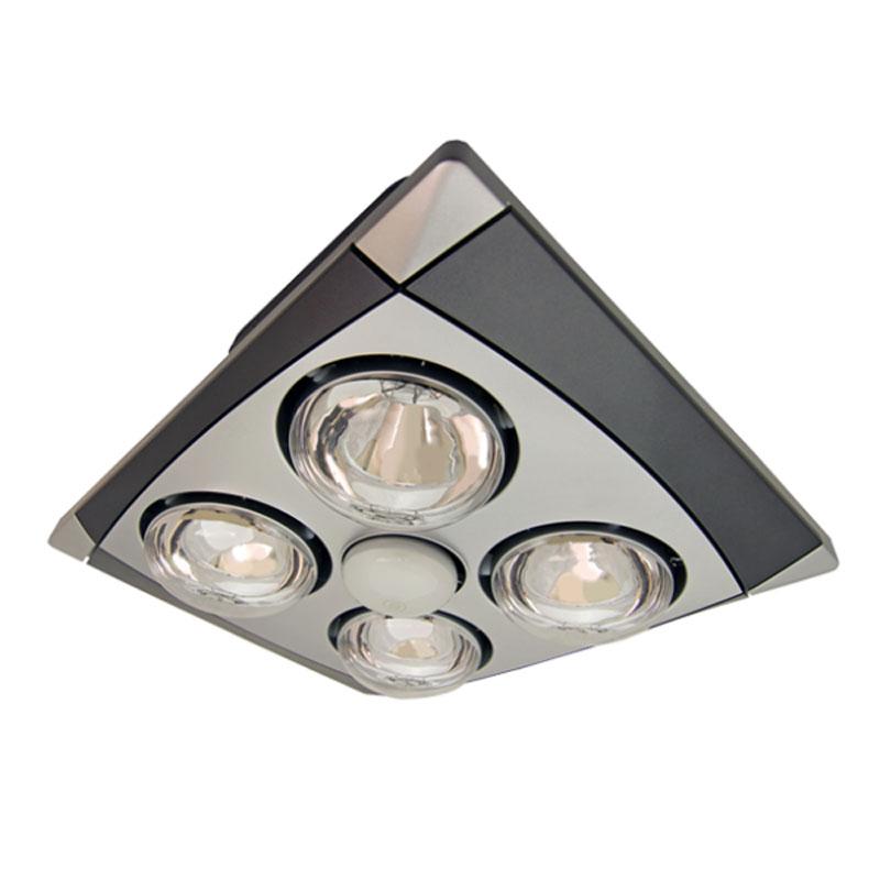 chrome bathroom exhaust fan with light