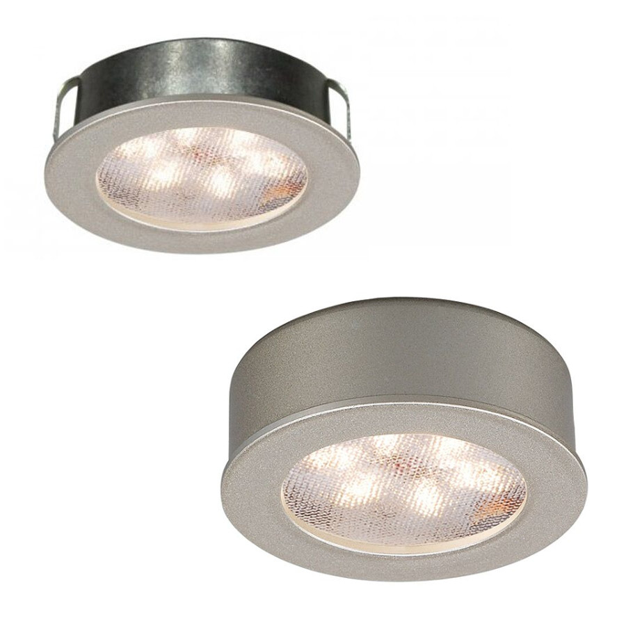 ledme round recessed surface button light by wac lighting hr led87 27 bn