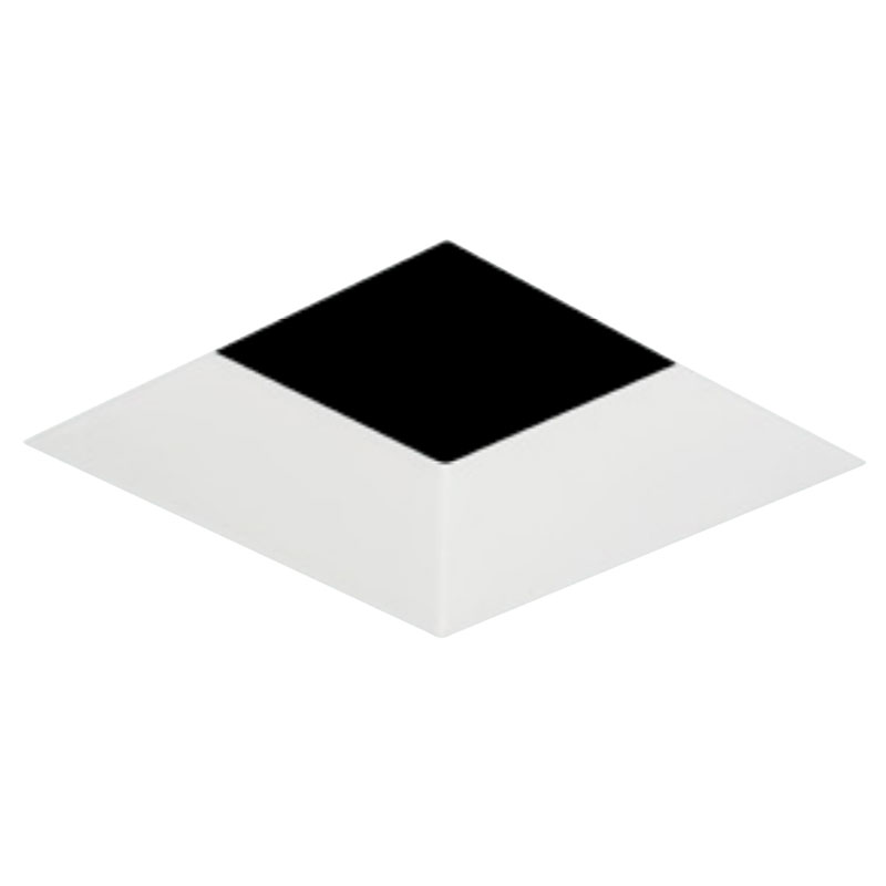 2 inch square flangeless bevel trim by element by tech lighting e2slb ow