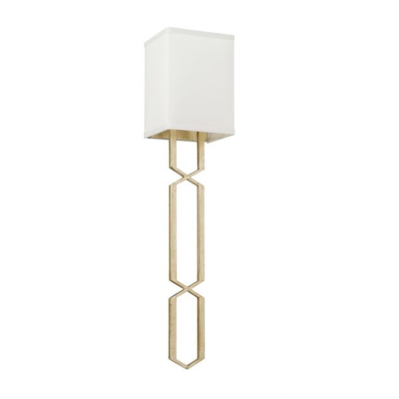 cascading geometric gold wall sconce by capital lighting 628415wg