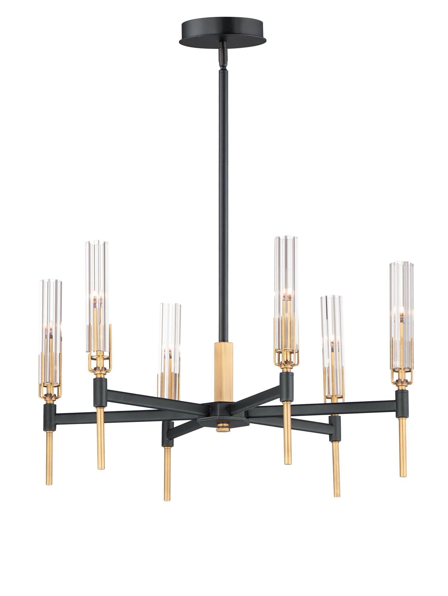 flambeau chandelier by maxim lighting 16125clbkab