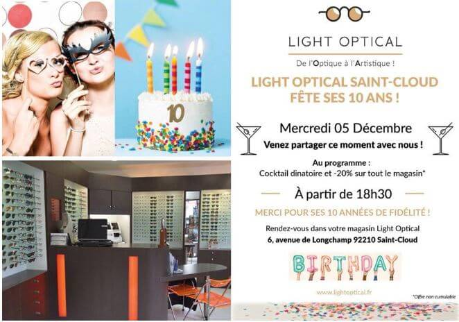 Light Optical Saint-Cloud fête ses 10 Ans