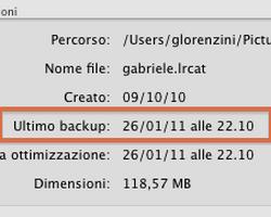 Eseguire correttamente il backup del catalogo di Lightroom