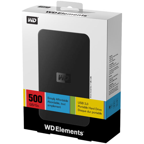 Western Digital Elements SE Portable 500 GB