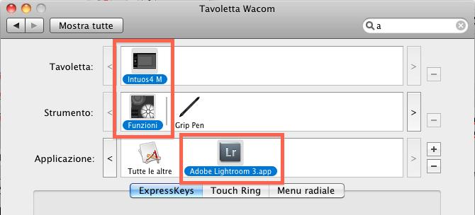 05 lightroom wacom intuos4 configurazione impostazioni personalizzare personalizzazione workflow guida tutorial