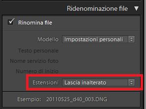 03 lightroom rinominare nome file immagini foto libreria importazione esportazione automatico