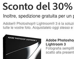 Risparmiate il 30% sull'acquisto di Lightroom 3