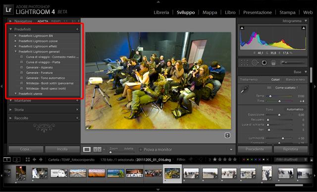 03 lightroom 4 beta preset predefiniti tutorial importazione gratis gratuito guida manuale sviluppo
