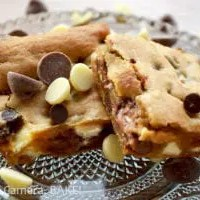 Triple Chocolate Chip Blondies